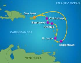 Southern Caribbean Gay Bears Cruise Adonis Gay Holiday - Southern caribbean map