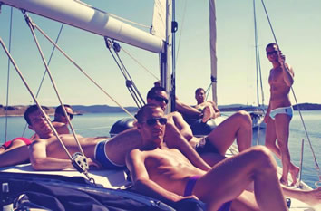A luxury nude gay sailing cruise that starts and ends in St