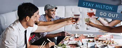 Hilton Hotels & Resorts Gay Travel Deals- Stay Hilton. Go Out.