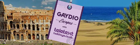 Gaydio Escapes with Teletext Holidays