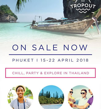 TropOut Thailand All-Gay Holidays 2018